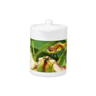 Yellow Dragonfly Teapot