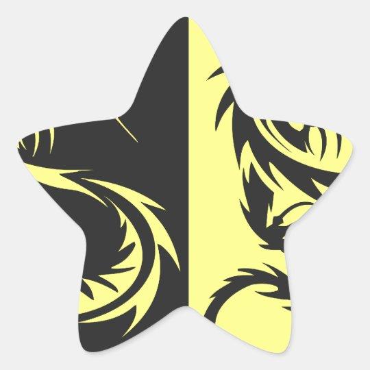 Yellow Dragons Star Sticker