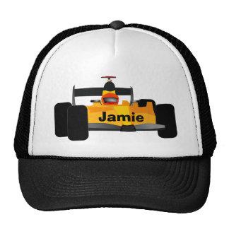 Yellow Dragster Race Car Trucker Hat