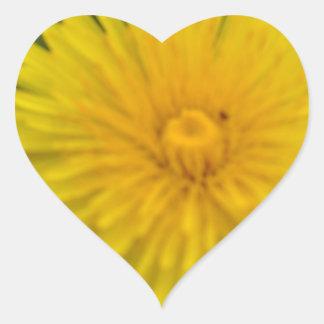 Yellow dreams heart sticker