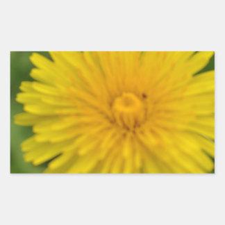 Yellow dreams rectangular sticker