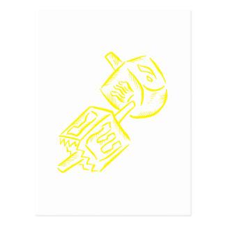 Yellow Dreidel Postcard