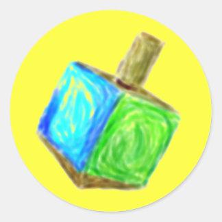 Yellow Dreidel Sticker