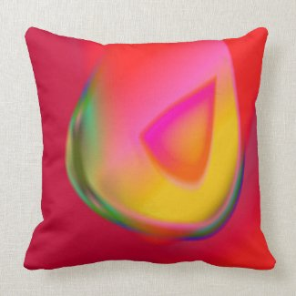 Yellow Drop Red Pillow