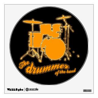yellow drum circle wall sticker