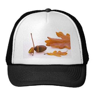 Yellow Dry Autumn Leaf Trucker Hat