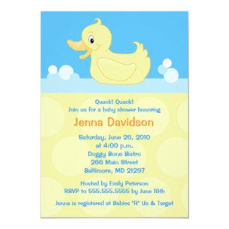 Yellow Duck 5x7 Baby Shower Invitation