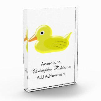 Yellow Duck Acrylic Award