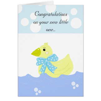 Yellow Duck Baby Congratulations Card
