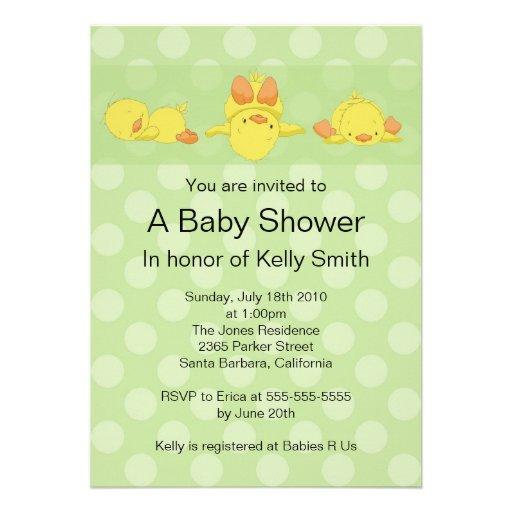 yellow duck baby shower invitation 5 x 7 invitation card zazzle