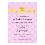 "Yellow Duck Baby Shower Invitation 5"" X 7"" Invitation Card"