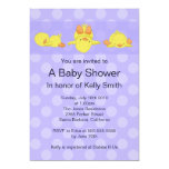 "Yellow Duck Baby Shower Invitation 5"" X 7"" Invitation Card"