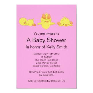 Yellow Duck Baby Shower Invitation