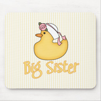 Yellow Duck Big Sister Mouse Pad