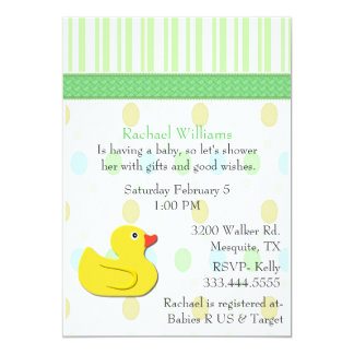 Yellow Duck Colorful Baby Shower Invitation