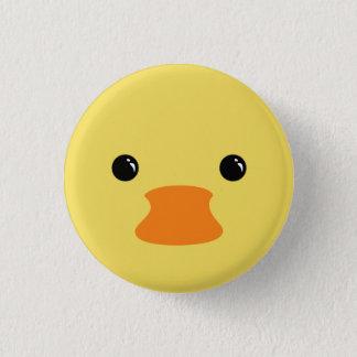 Yellow Duck Cute Animal Face Design Button