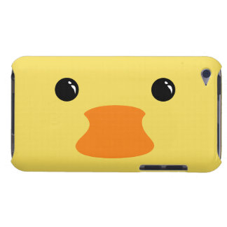 Yellow Duck Cute Animal Face Design Barely There iPod Covers