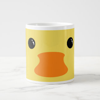 Yellow Duck Cute Animal Face Design Large Coffee Mug