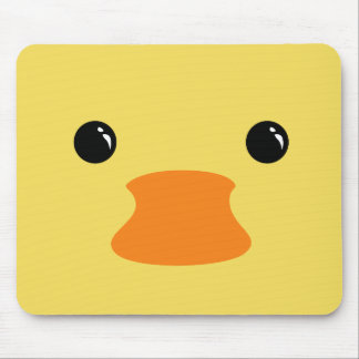 Yellow Duck Cute Animal Face Design Mouse Pad