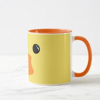 Yellow Duck Cute Animal Face Design Mug