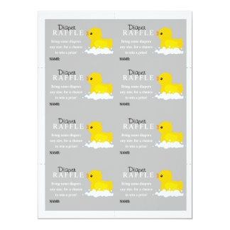 Yellow Duck Diaper Raffle Card