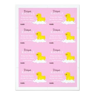 Yellow Duck Diaper Raffle 6.5x8.75 Paper Invitation Card
