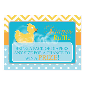 Yellow Duck Diaper Raffle Tickets-Neutral Gender Large Business Card