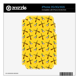 Yellow duck hunting pattern skins for iPhone 3G