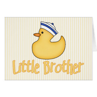 Yellow Duck Little Brother Card