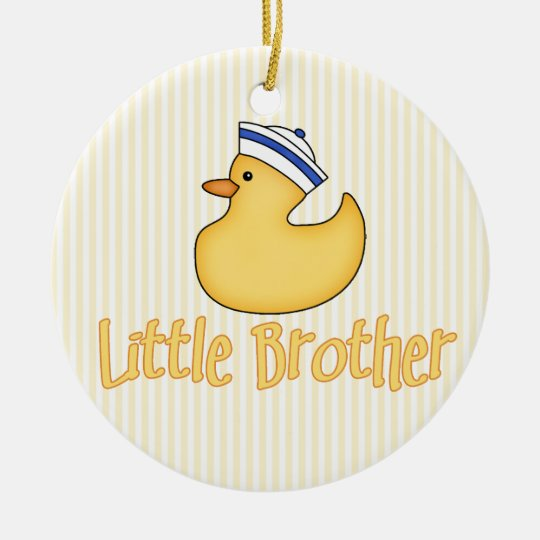 Yellow Duck Little Brother Ceramic Ornament