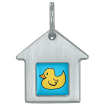 Yellow Duck Pet Tag