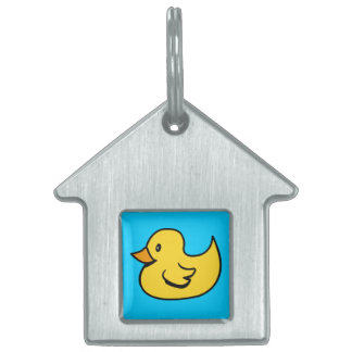 Yellow Duck Pet Tag Pet ID Tag