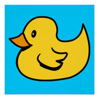 Yellow Duck Poster