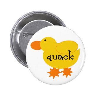 Yellow Duck Quack Pinback Button