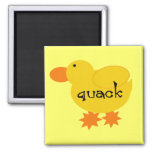 Yellow Duck Quack Tshirts and Gifts Fridge Magnet