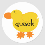 Yellow Duck Quack Tshirts and Gifts Round Sticker