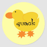 Yellow Duck Quack Tshirts and Gifts Stickers
