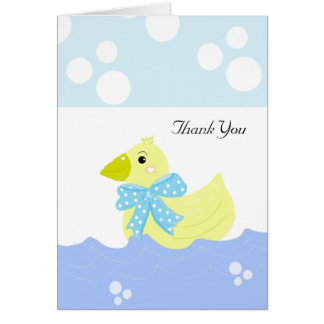 Yellow Duck Thank You Card