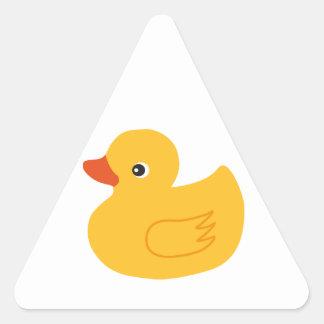 Yellow Duck Triangle Sticker