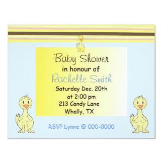 Yellow Duckie Baby Shower Invitation