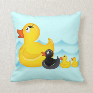 Yellow Duckies American MoJo Pill Throw Pillows
