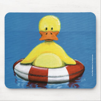 Yellow Duckling with Rubber Ring Mousepad