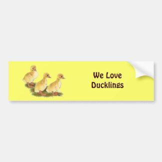 Yellow Ducklings Bumper Sticker