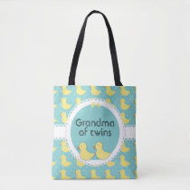 Yellow Ducks on Teal Grandma of Twins Bag