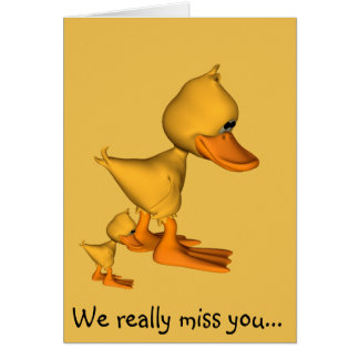 Yellow ducks we miss you card