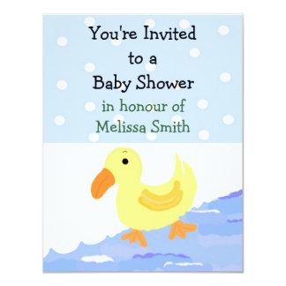Yellow Ducky Baby Shower Invitation