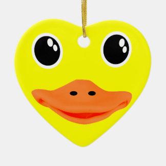 Yellow Ducky Ceramic Ornament