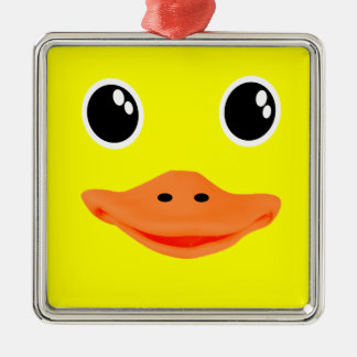 Yellow Ducky Metal Ornament