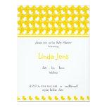 yellow ducky row baby shower invitation
