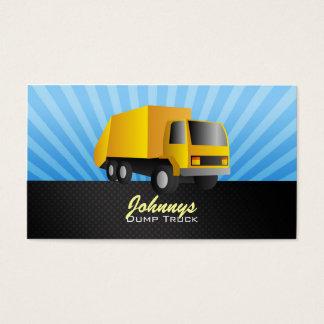 Yellow Dump Truck Business Cards